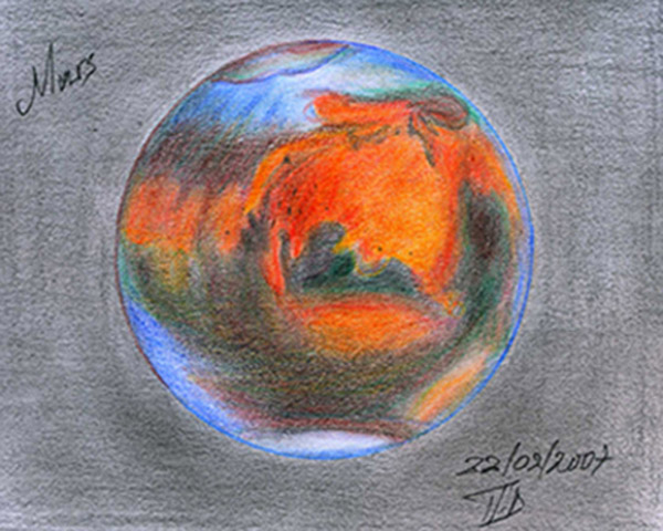 space planets pencil drawing - photo #29