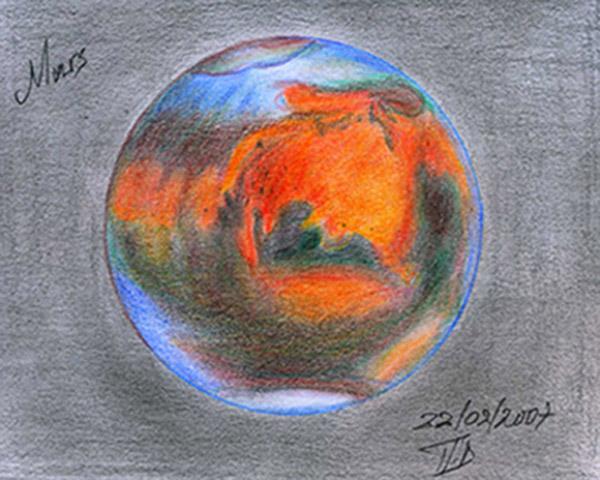 Mars Pencil sketch