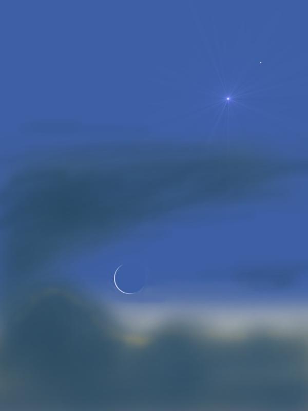 Moon venus and Jupiter