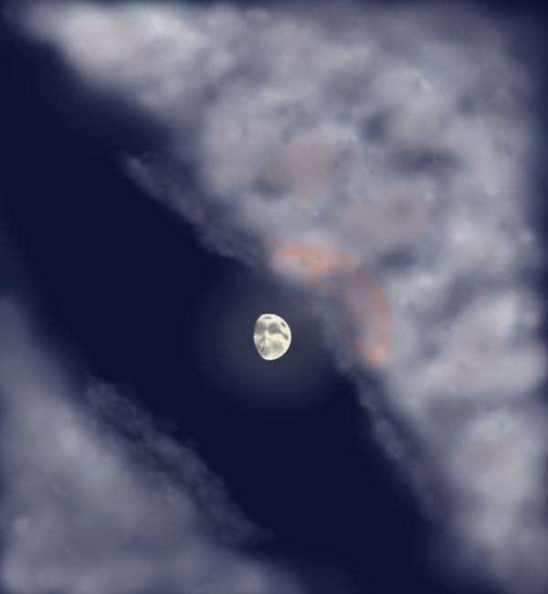 Naked Eye Moon
