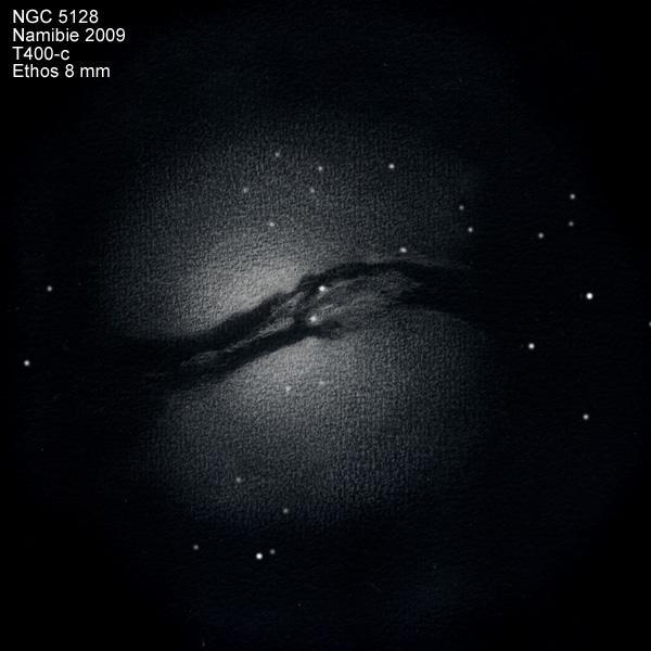 VCSE - NGC 5128 - Serge Vieillard rajza