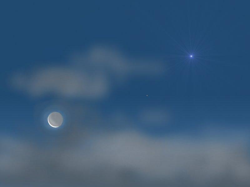 Moon, Mars and Venus