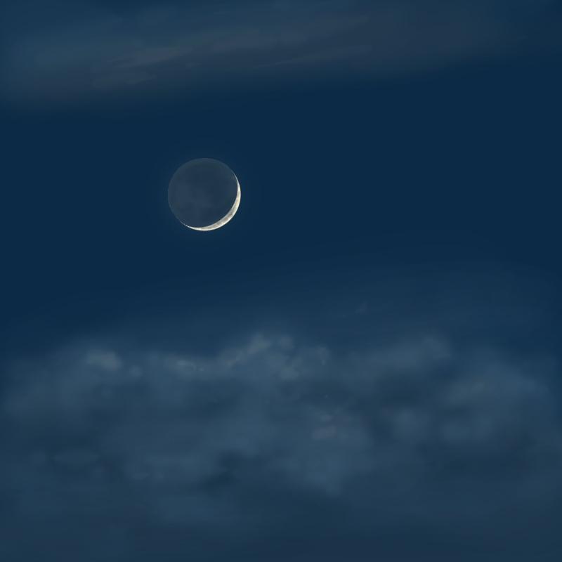Crescent Moon in June