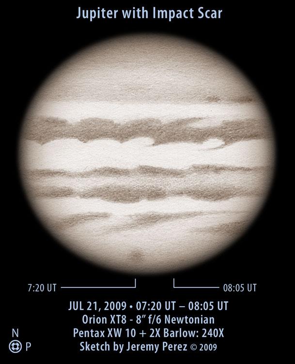 Jupiter with Impact Scar