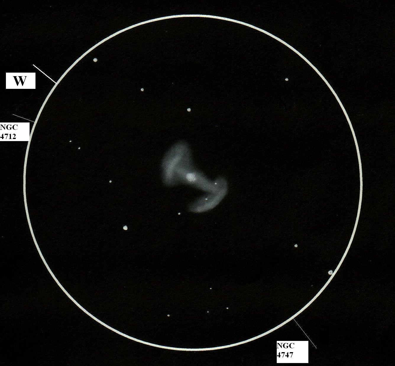 ngc 4725 � astronomy sketch of the day