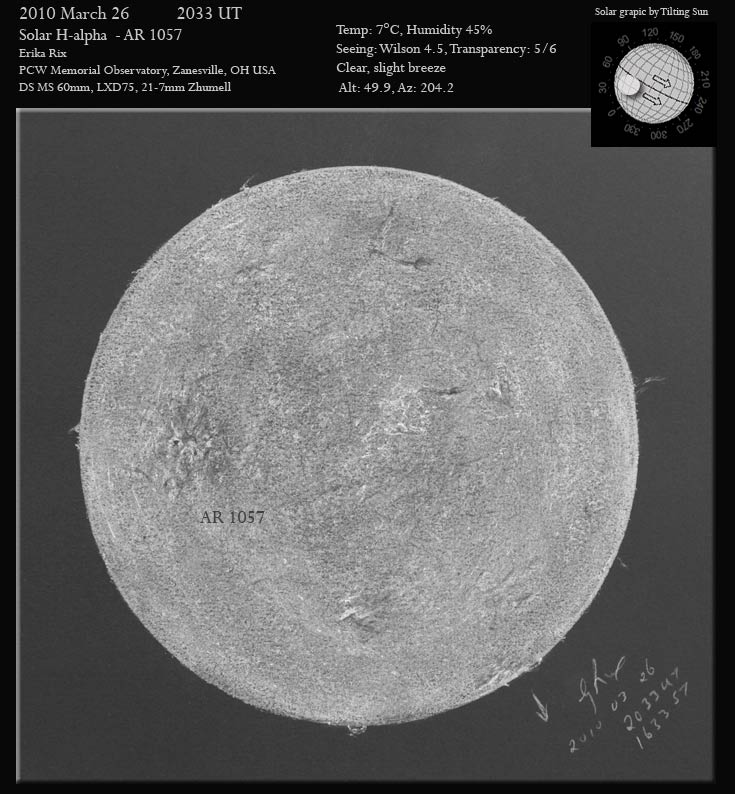 2010 Mar 26 Full Solar Disk