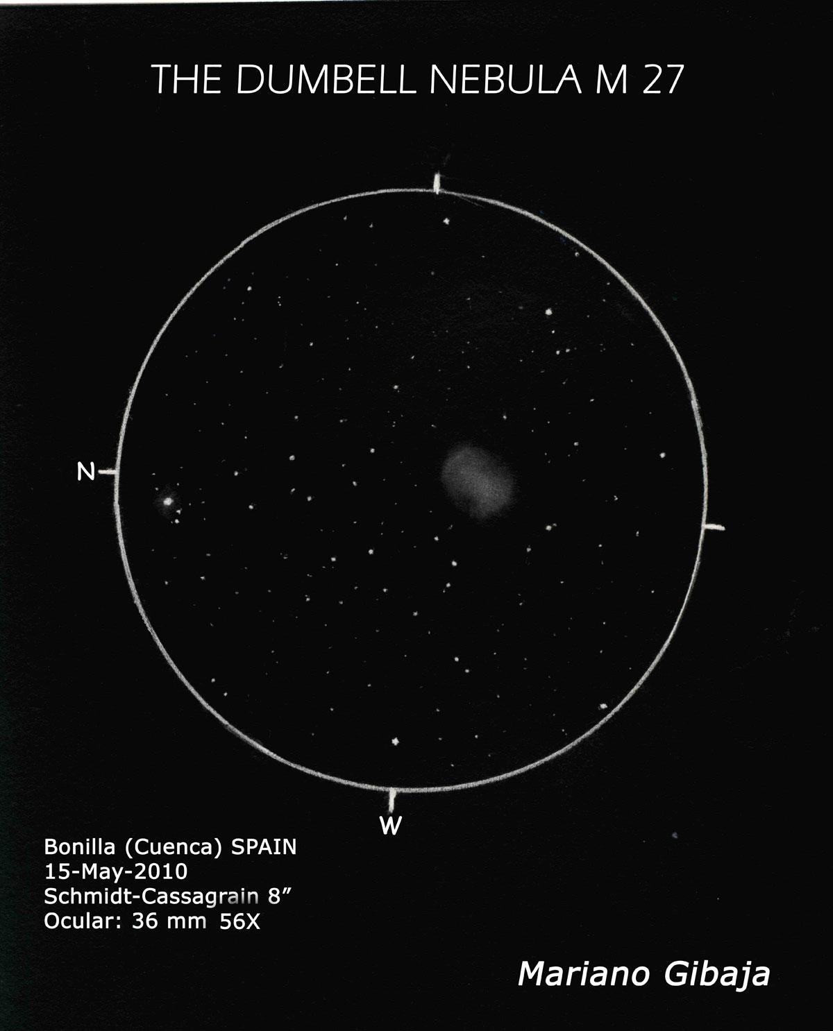 Messier 27 – The Dumbell Nebula
