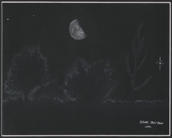 Earth, Moon and Jupiter Conjuction