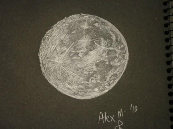 Full Moon Sketches Let a near full moon spoil