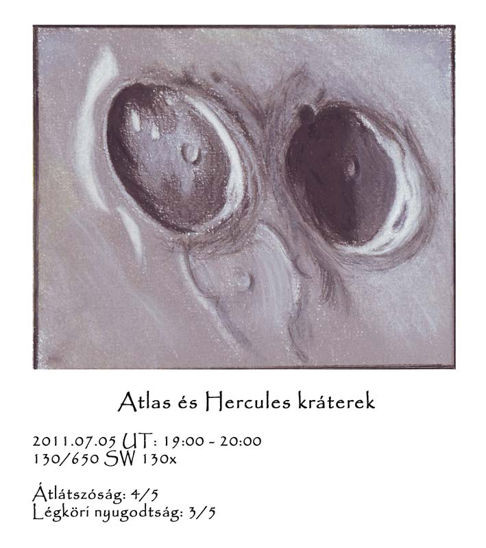 Atlas and Hercules Craters