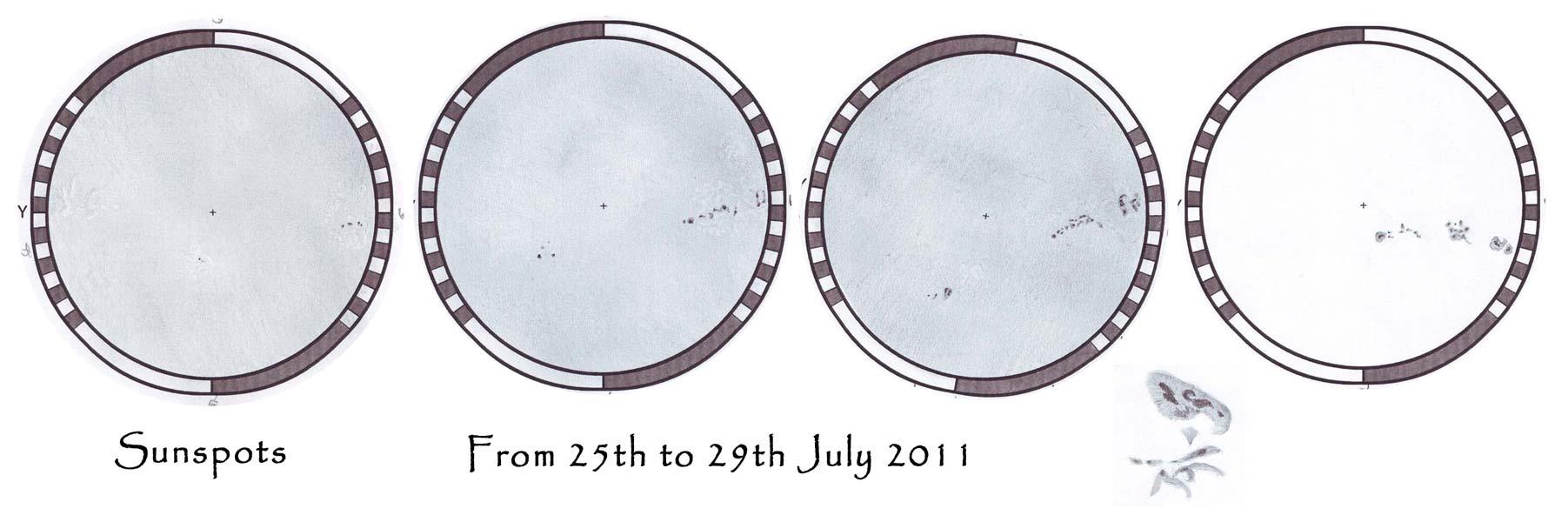 Sunspots - July 25-29, 2011