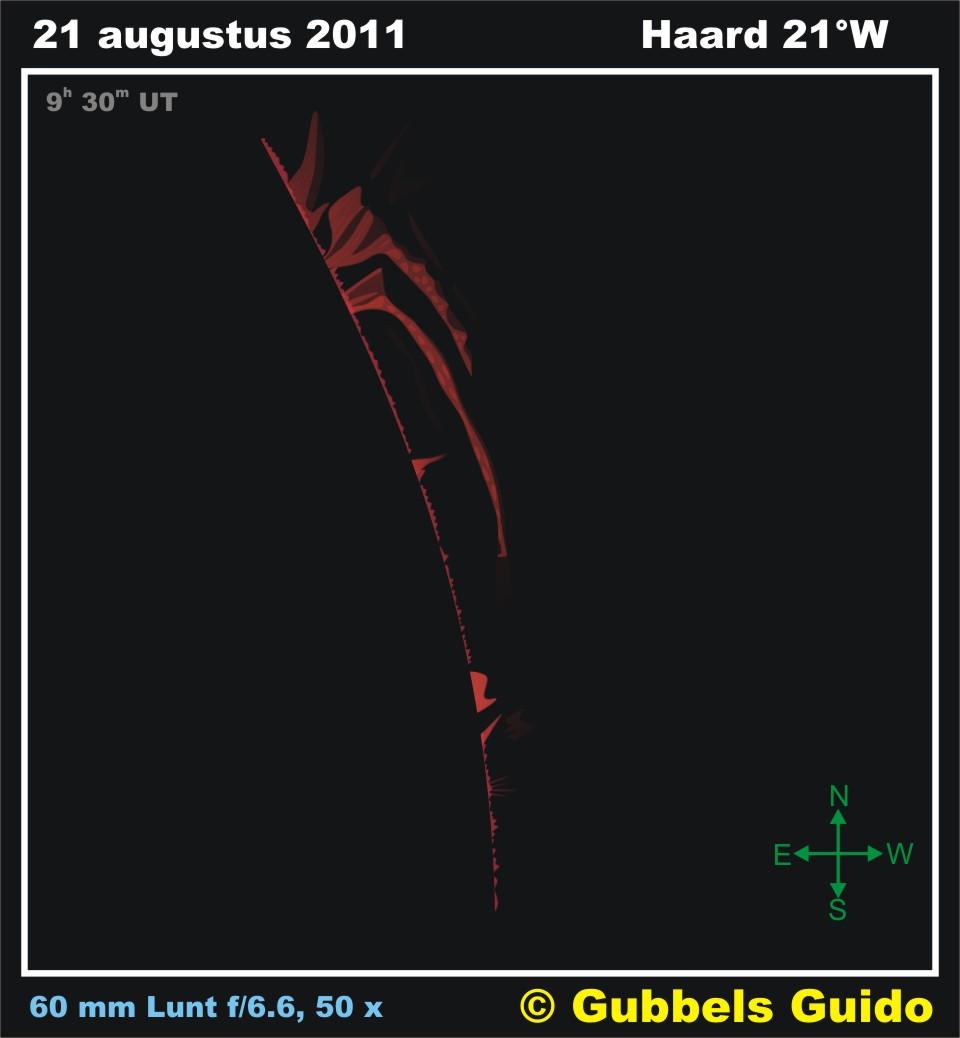 Solar Prominence - August 21, 2011
