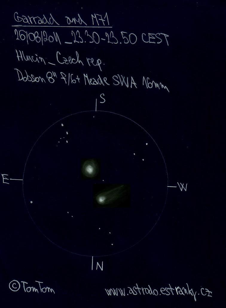 C/2009 P1 (Garradd) and Messier 71