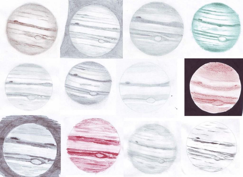 Sketches of Jupiter - December 3, 2011