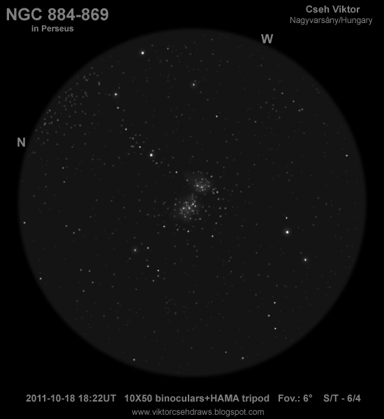 NGC 884 and 869