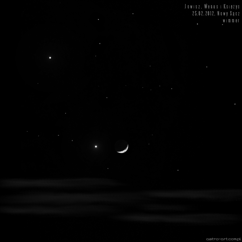 Conjunction of Jupiter, Venus and the Moon - February 25, 2012