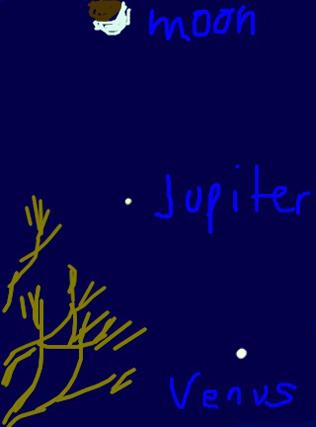 Moon, Jupiter, Venus Conjunction