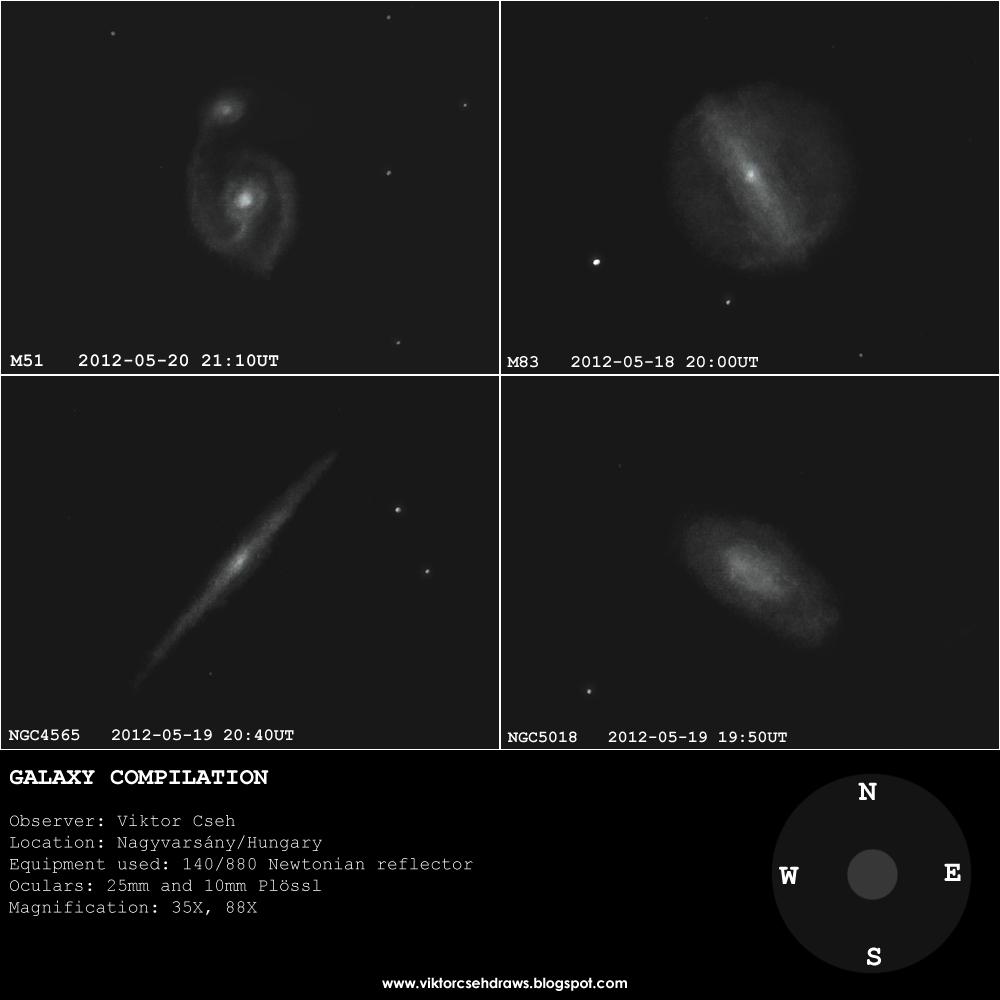M51, M83, NGC4565, and NGC5018