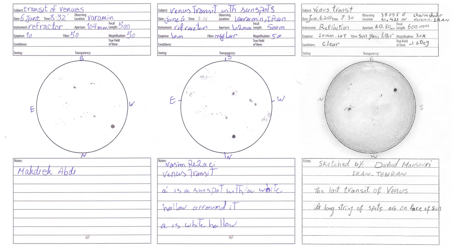 Venus Transit - Three Views