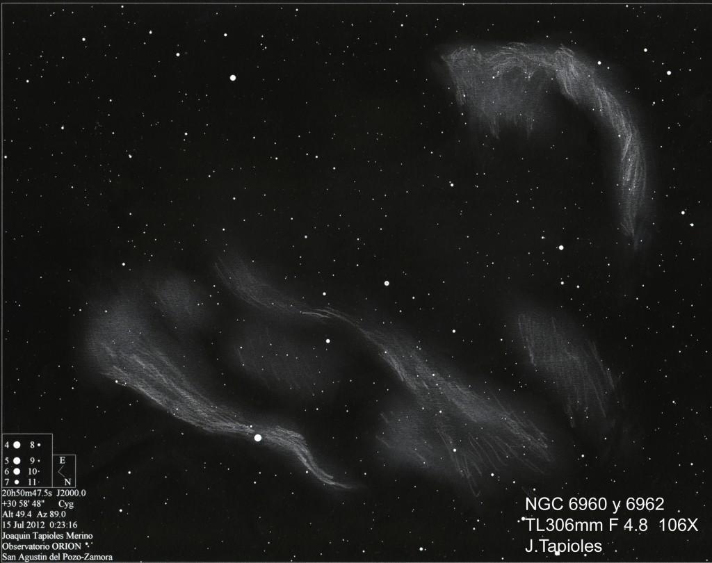 The Veil Nebula - NGC 6960/6962