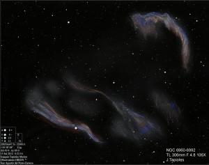 The Veil Nebula - NGC 6960/6962 - Color Version