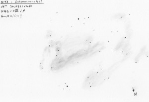 Messier 17 - Original Drawing