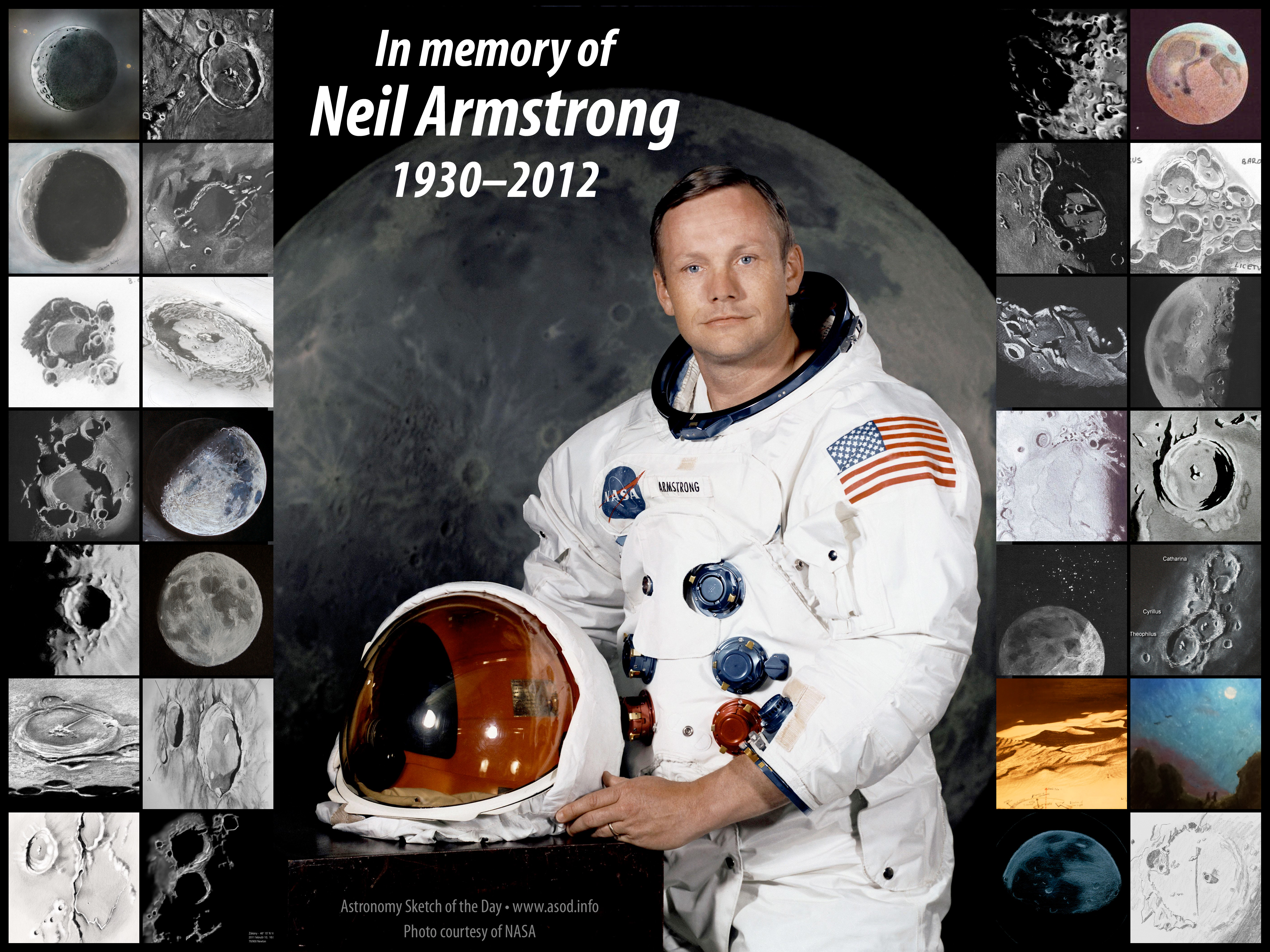In memory of Neil Armstrong — 1930–2012 – Astronomy Sketch