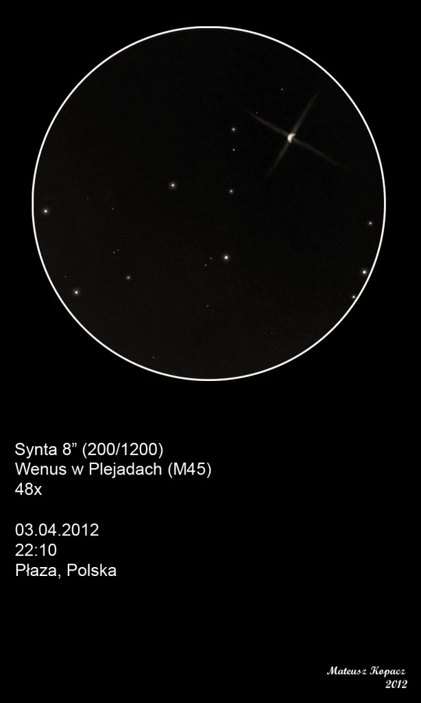 Venus and the Pleiades
