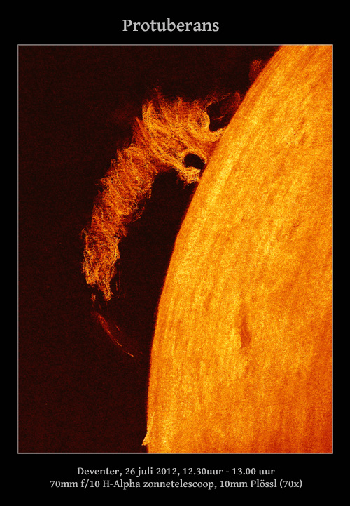 Solar Prominence - July 27, 2012