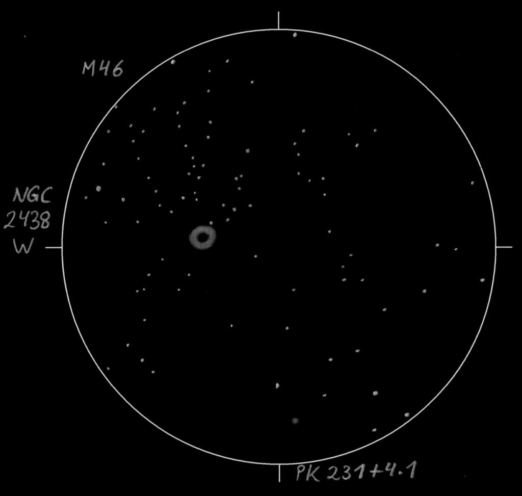 Messier 46, NGC 2438, and PK 231+4.1