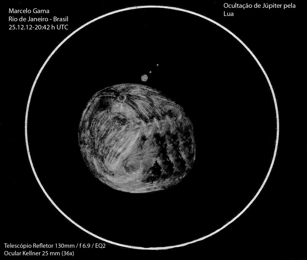Occultation of Jupiter - December 25, 2012