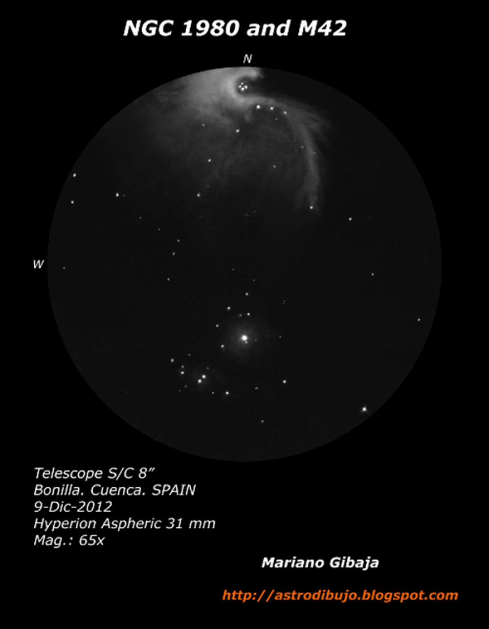 NGC 1980 and Messier 42