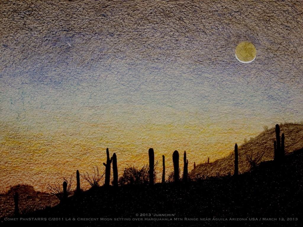 C/2011 L4 (PanSTARRS) and Crescent Moon