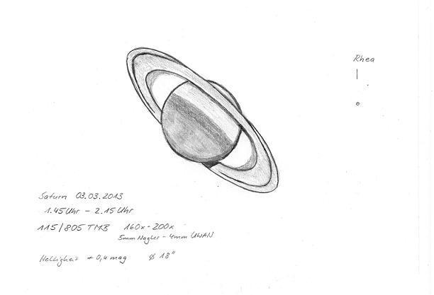 Saturn - March 3, 2013