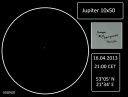 Jupiter and Galilean Moons - April 16, 2013