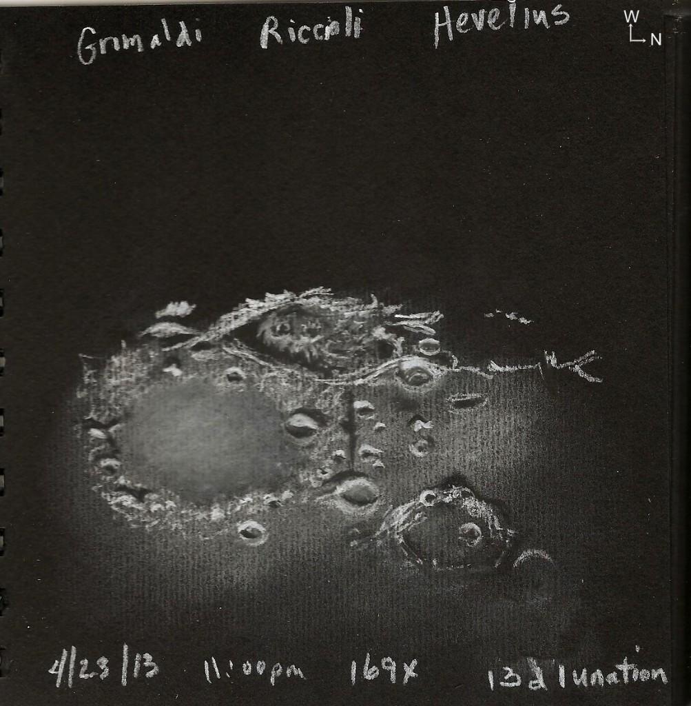 Riccioli and Grimaldi Craters
