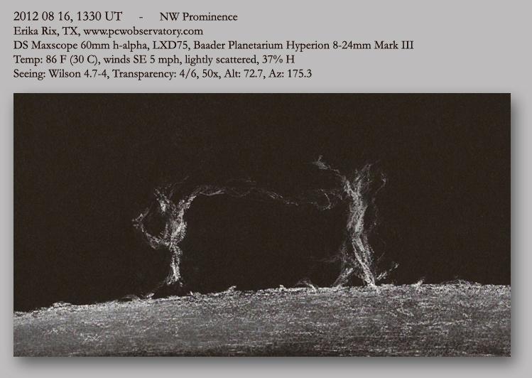Solar Prominences - August 16, 2012