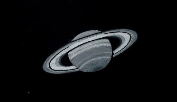 Saturn and Enceladus- June 20, 2013