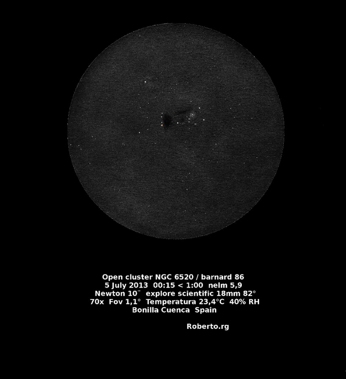 NGC 6520 and Barnard 86