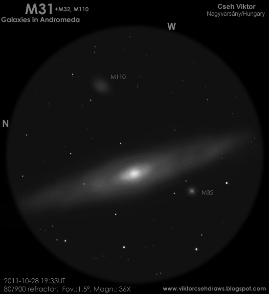 The Great 'Nebula' in Andromeda | Astronomy Sketch of the Day