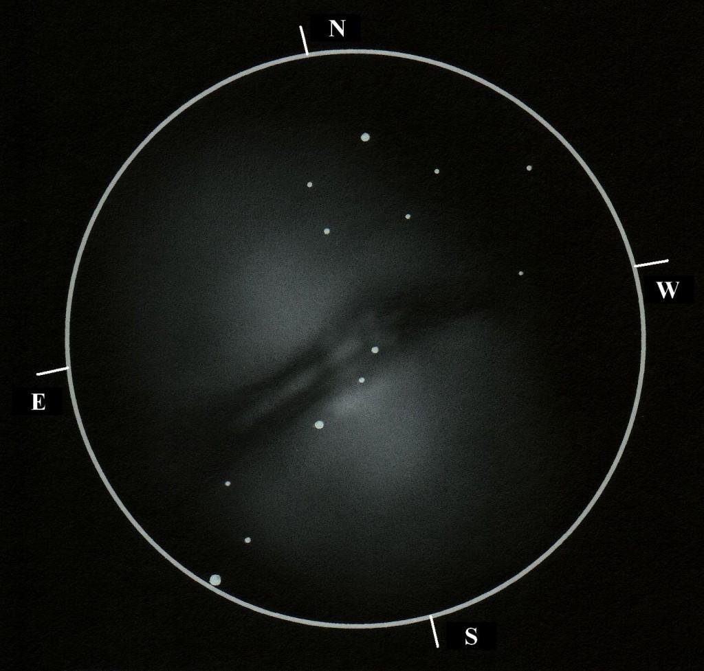 VCSE - NGC 5128 - Kernya János Gábor rajza