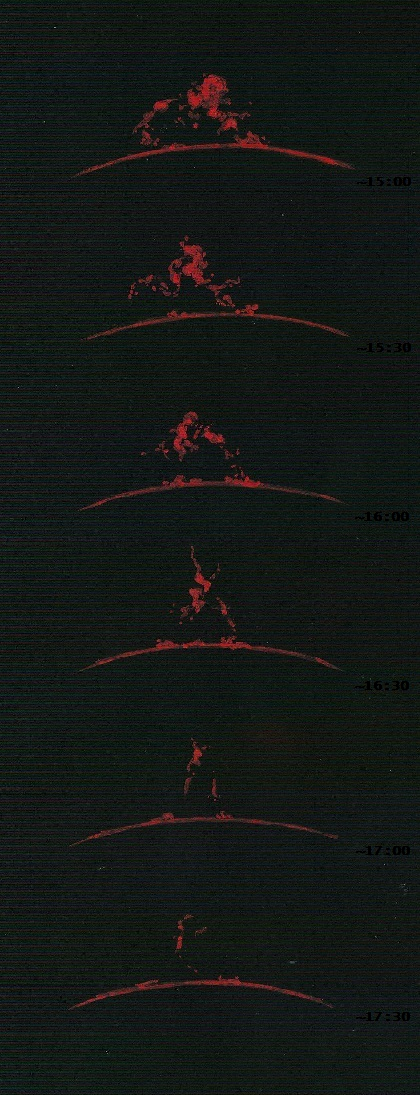 Solar Prominence Sequence - April 9, 2012