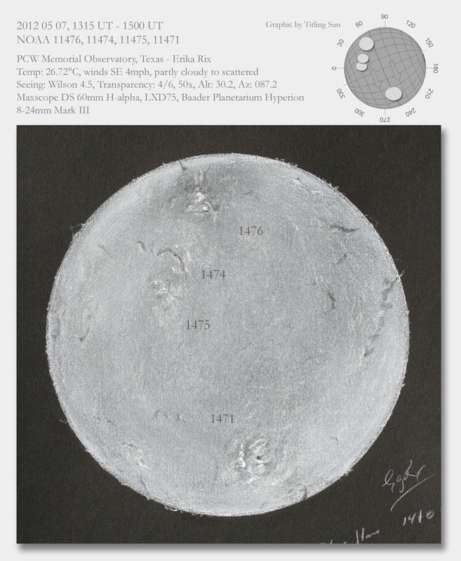 H-Alpha Sun - May 3, 2012
