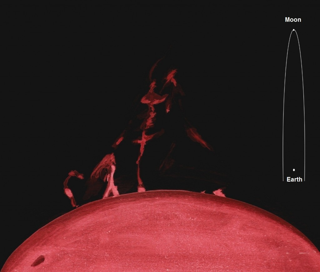 Solar Prominence - April 22, 2012