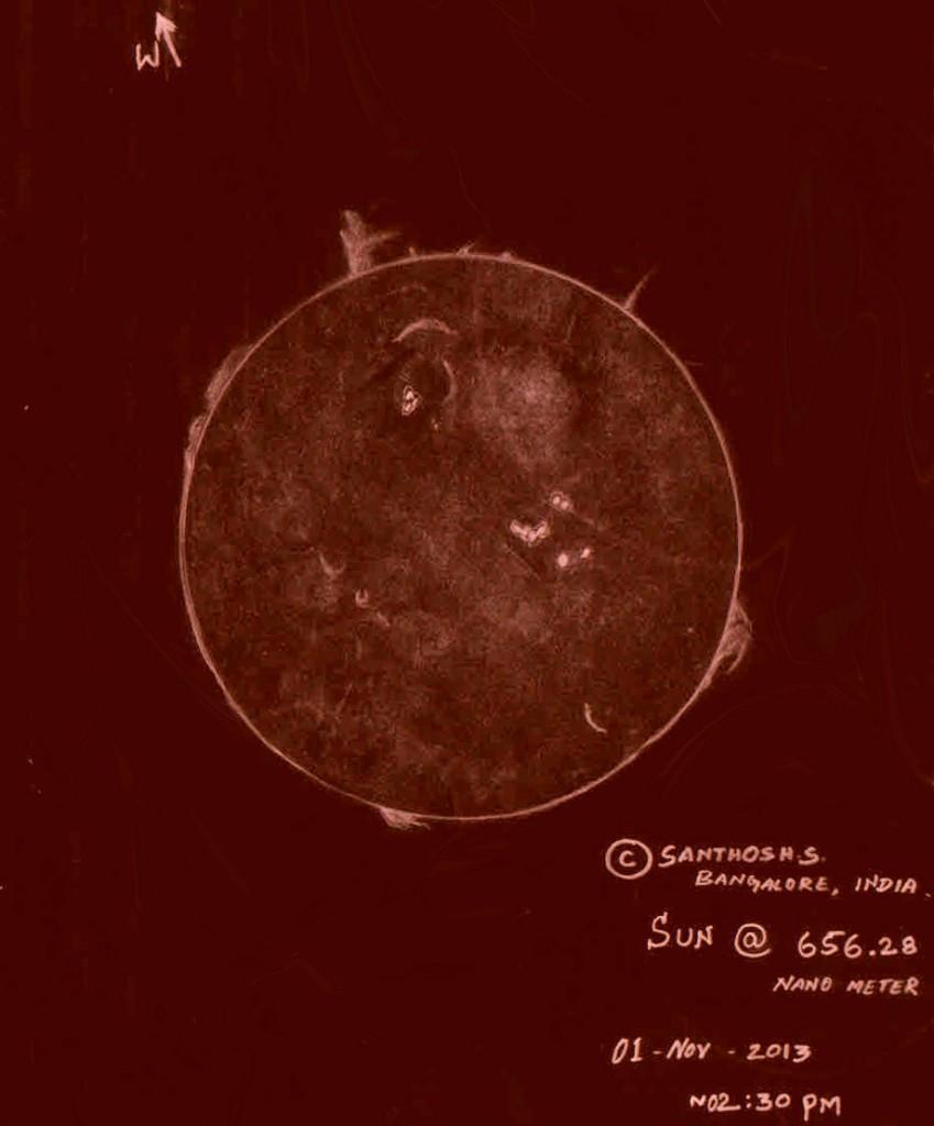 H-Alpha Sun - November 1, 2013