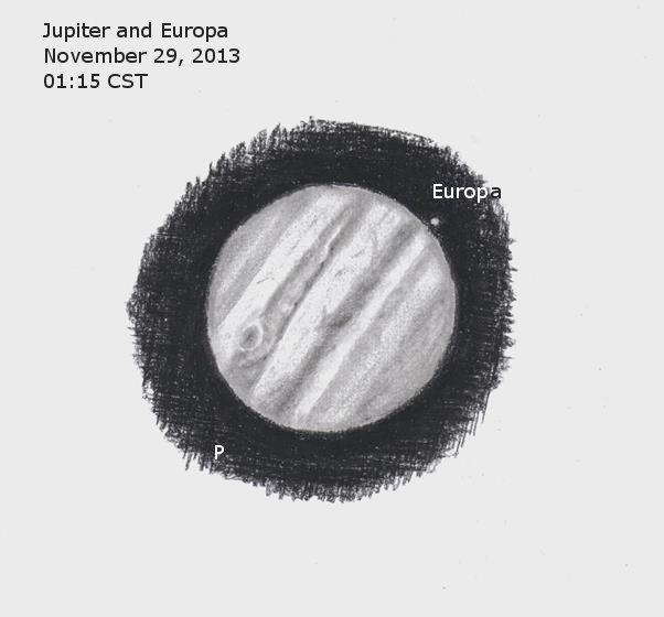 Jupiter and Europa - November 29, 2013