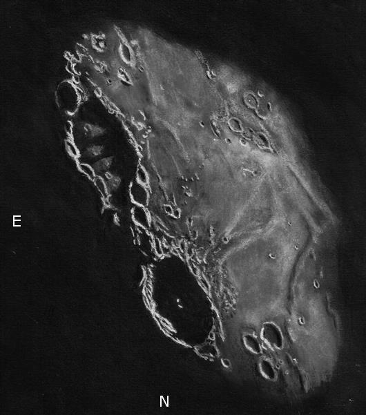 Langrenus and Vendelinus Craters