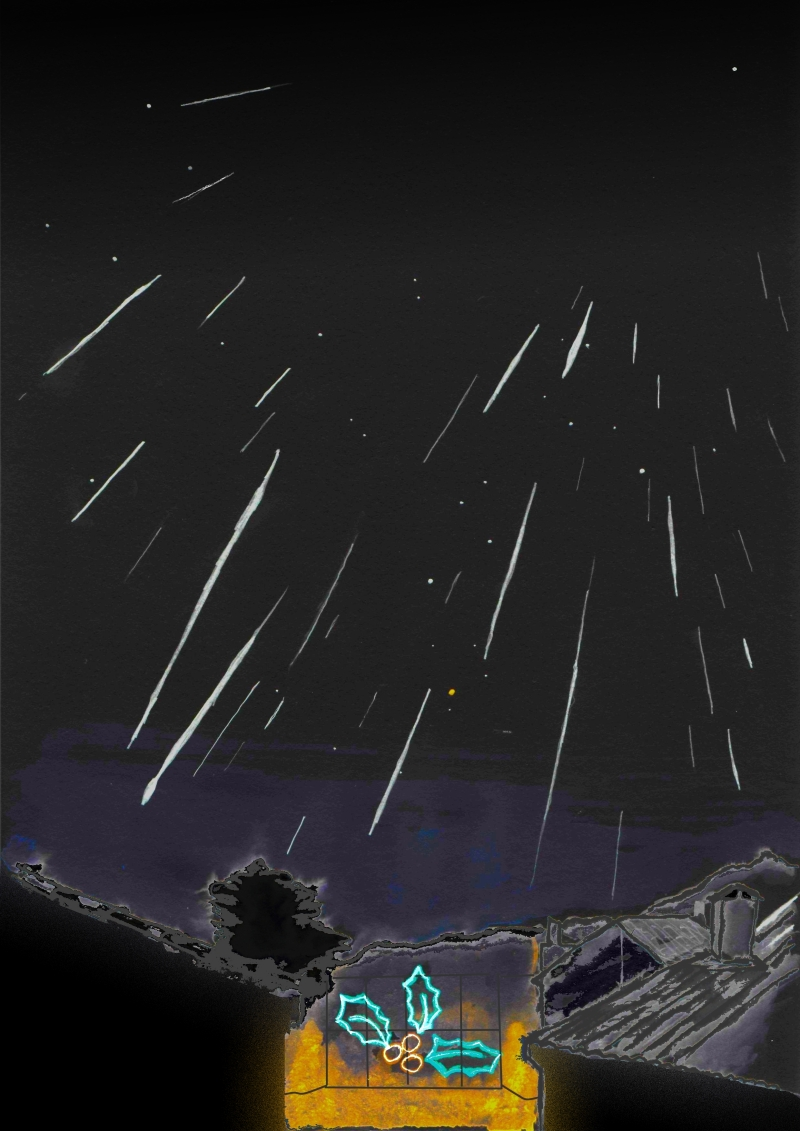 Geminid's Rain – Astronomy Sketch of the Day