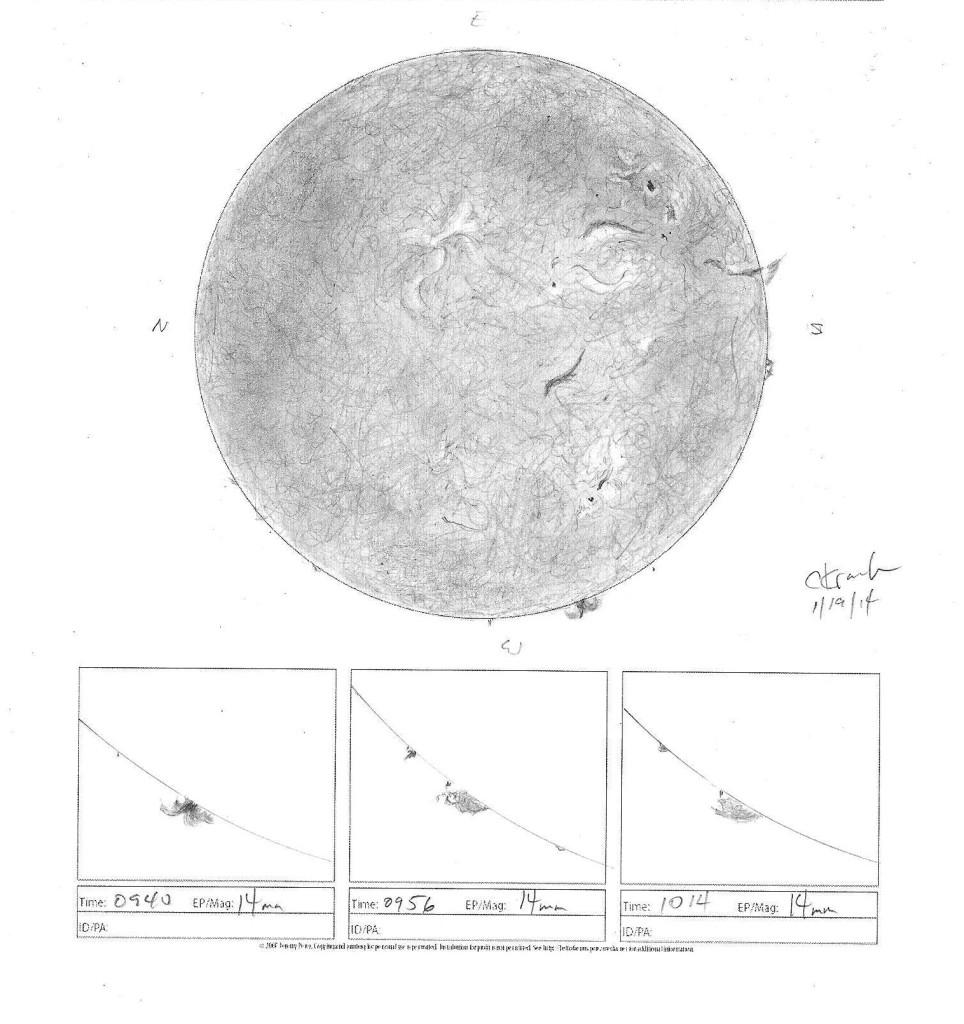 Sun - H-Alpha - January 19, 2014