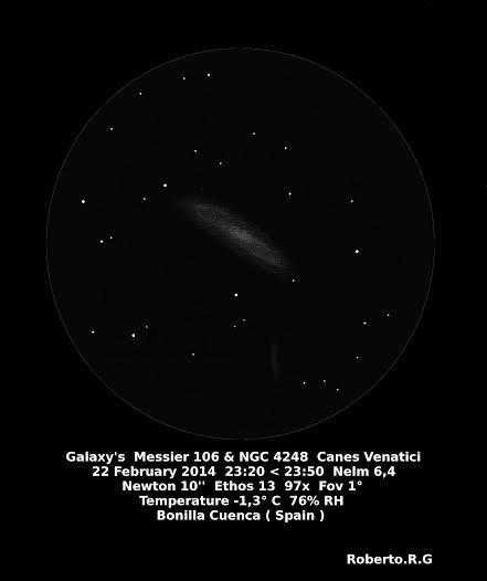 Messier 106 & NGC 4248
